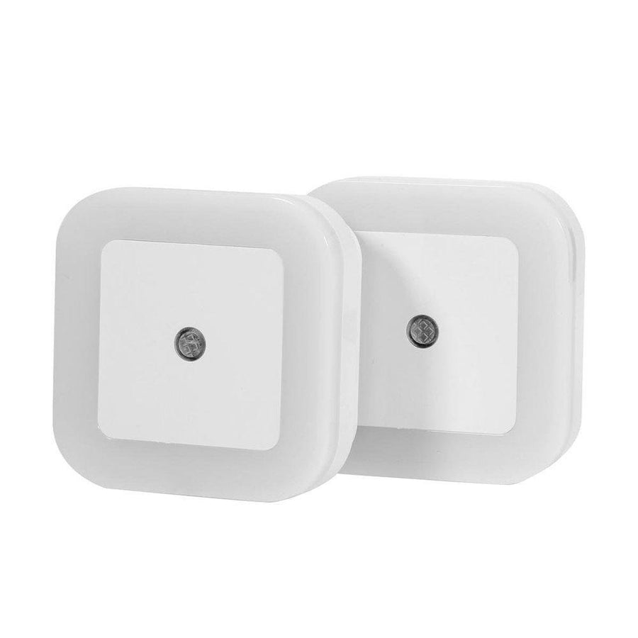 1.5W Plug in LED Night Light Lamp with Optical Sensor White 2 Pack - www.wowseastore.com