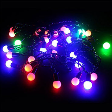 20LED Solar String a stringa con sfere piccole e satinate - it.wowseastore.com
