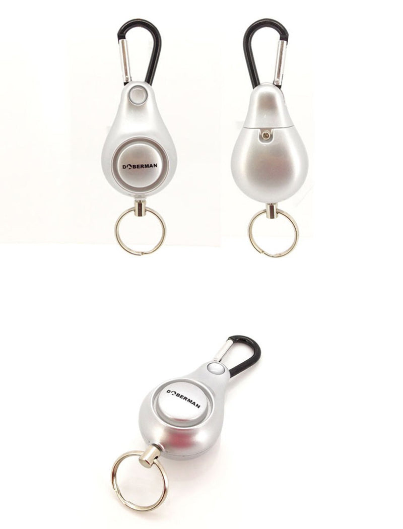 Resilience Retractable Rope Key Ring Anti-lost Alarm(Silver) - www.wowseastore.com