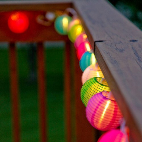 20 Lantern Ball Lights Solar Powered String Lights - www.wowseastore.com