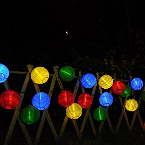 20 Lantern Ball Lights Solar Powered String Lights - it.wowseastore.com