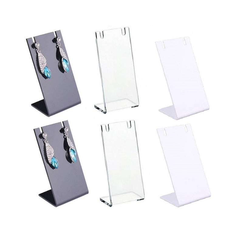 6 Pack Mini Earrings Racks L Type Earrings Storage Holder - www.wowseastore.com