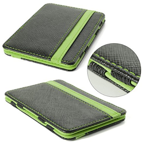 Men's Magic Credit ID Card Money Clip Cash Wallet (Green) - www.wowseastore.com
