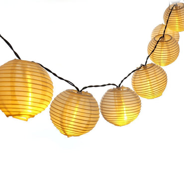 20 Lantern Ball Lights Solar Powered Warm White - it.wowseastore.com