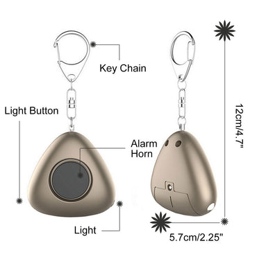 120dB Personal Alarm LED Flashlight Keychain SOS Safety Alarm Sirens(2 pack) - www.wowseastore.com