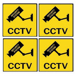 Acrylic CCTV Security Surveillance Camera Warning Sign 4 Pack - www.wowseastore.com