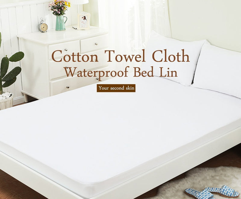 Waterproof Bed Bug Proof Box Bed Encasement Protector Bed Mattress Cover White - www.wowseastore.com