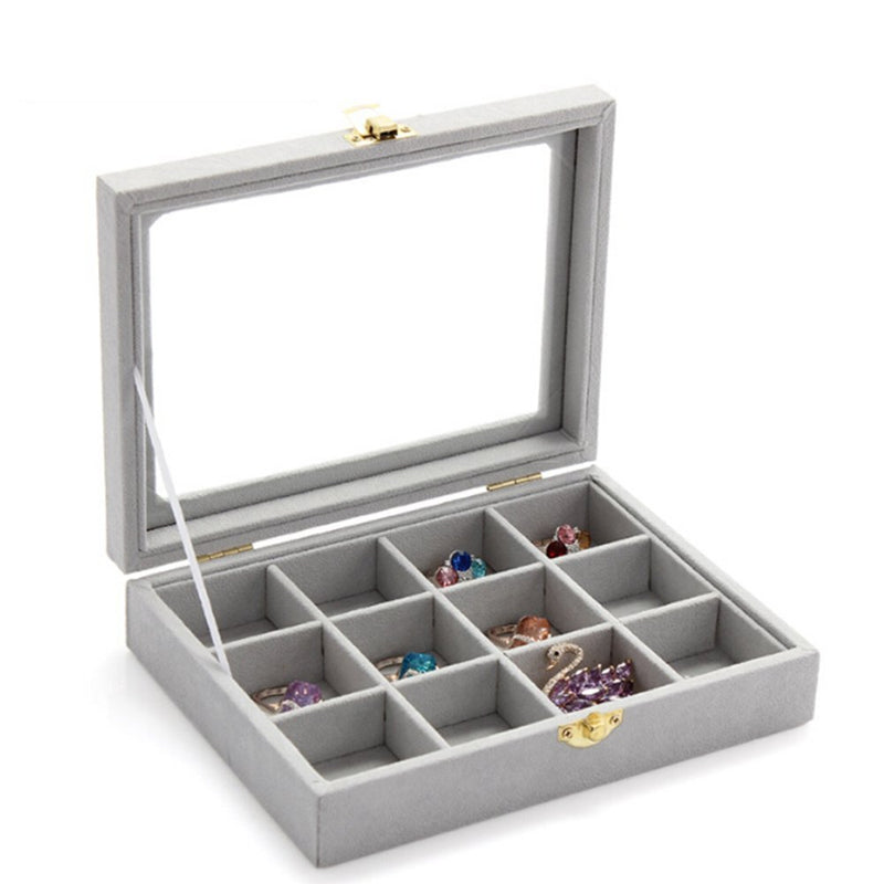 Jewelry Box Display Tray Inserts 12 Grids Jewelry Storage Case Tray - www.wowseastore.com