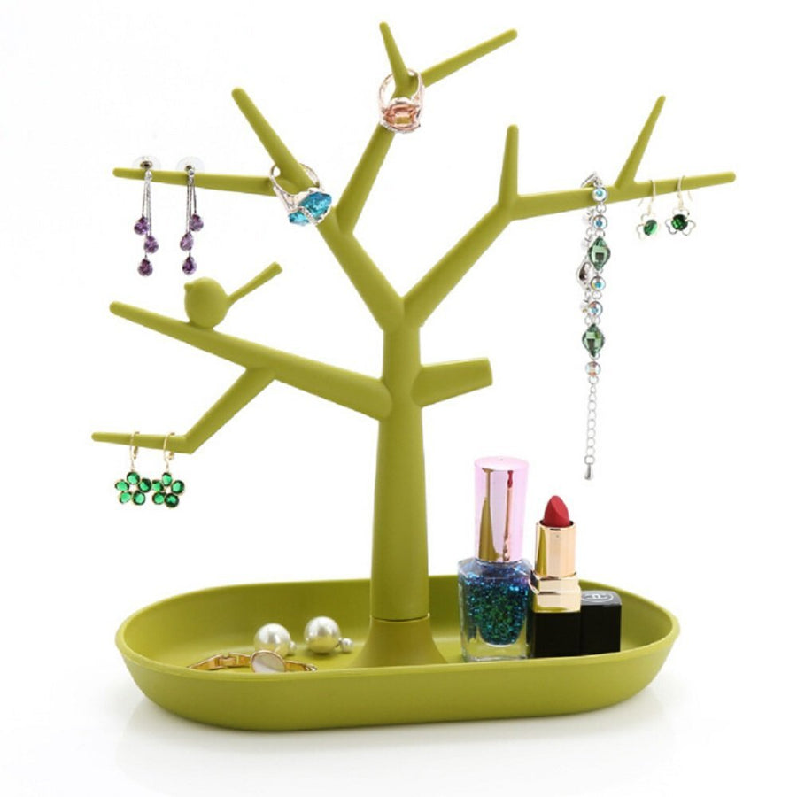 Tree Design Jewelry Display Tower Necklace Earring Bracelet Holder - www.wowseastore.com