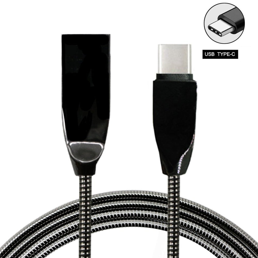 USB Type C Cable USB 2.0 3.3Ft Metal Braided Cord Fast Charger - www.wowseastore.com
