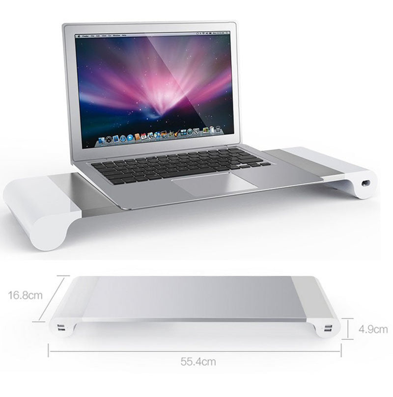 Laptop Notebook Stand with 4 USB Port and Keyboard Storage Space - www.wowseastore.com