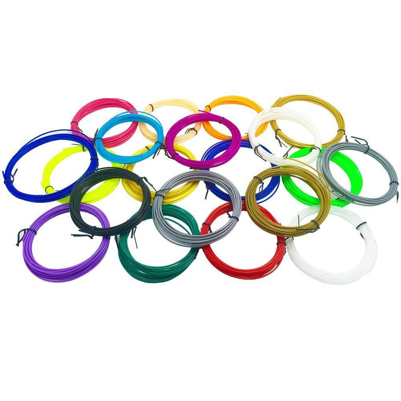 ABS Filament 3D Printing Pen Filament (7.8 INCH each)1.75mm Total 20 Different Colors - www.wowseastore.com