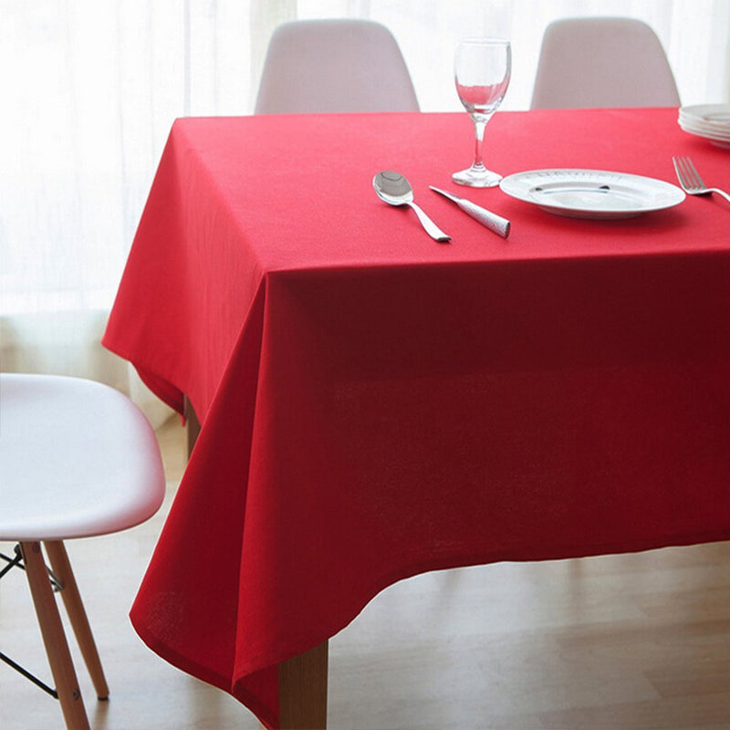 High Class Canvas Tablecloth,Daily Life Use or Christmas Festival Decoration Tablecover 55x86.6