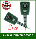 Waterproof PIR Electronic Animal Pest Repellent Dog/Cat/Birds 2 pack - www.wowseastore.com