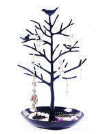 Antique Birds Tree Stand Jewelry Display Necklace Earring Bracelet Holder - www.wowseastore.com