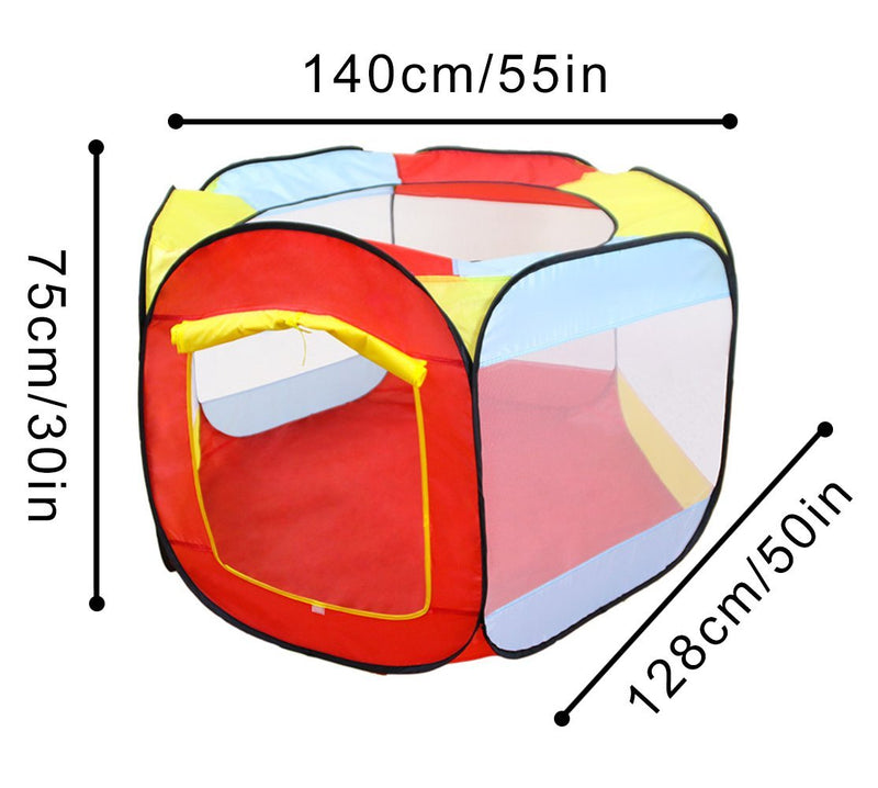 Ball Pit Play Tent for Kids - 6-Sided Playhouse per bambini Tenda interna o esterna - it.wowseastore.com