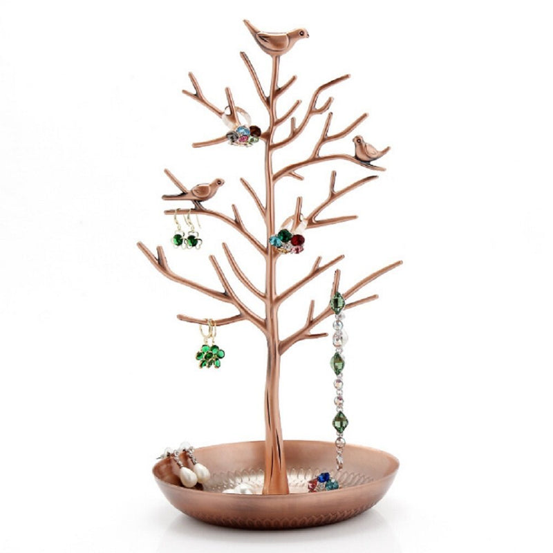 Antique Birds Tree Stand Jóias Display Colar Brinco Bracelet Holder - pt.wowseastore.com