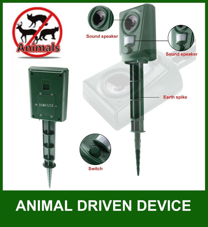 Impermeável PIR Electronic Animal Pest Repelente Dog / Cat / Aves 2 pack - pt.wowseastore.com