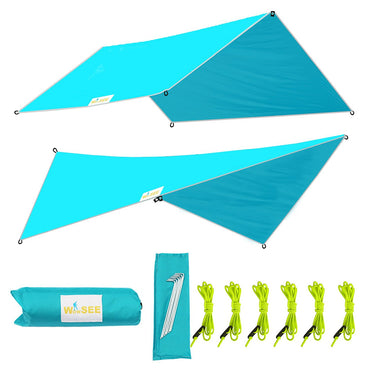 RipStop Rain Cover Tent Shelter for Camping Outdoor Lightweight - www.wowseastore.com