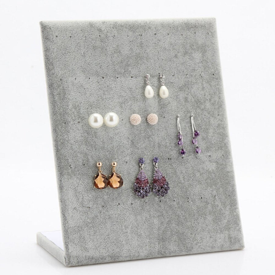 Velvet Fabric Earring Holder Jewelry Display - www.wowseastore.com