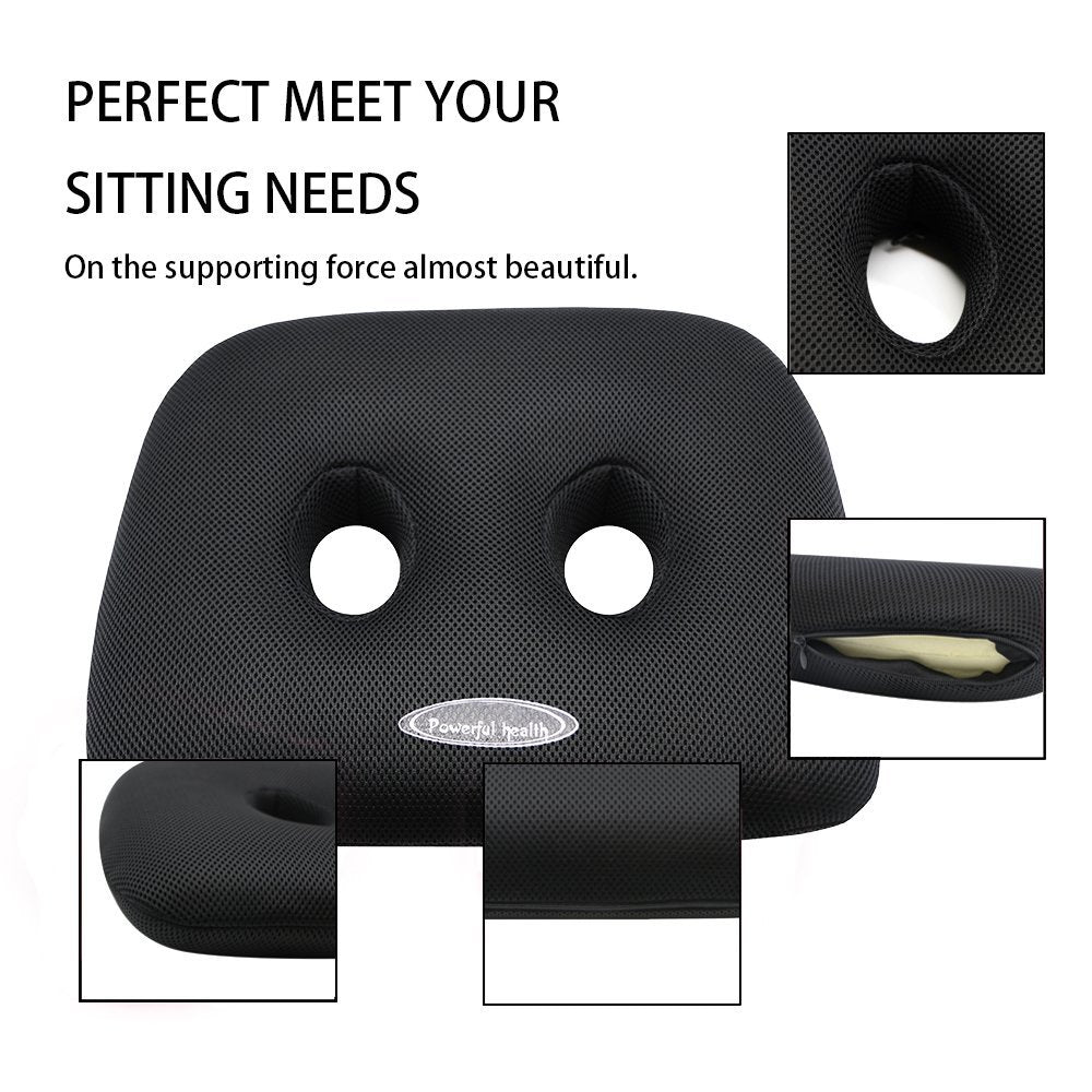 Ischial Tuberosity Seat Cushion With Two Holes For Sitting Travelling Tv Reading Home Office Car