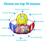 Ball Pit Play Tent with Basketball Hoopfor Kids Indoor Toys - www.wowseastore.com