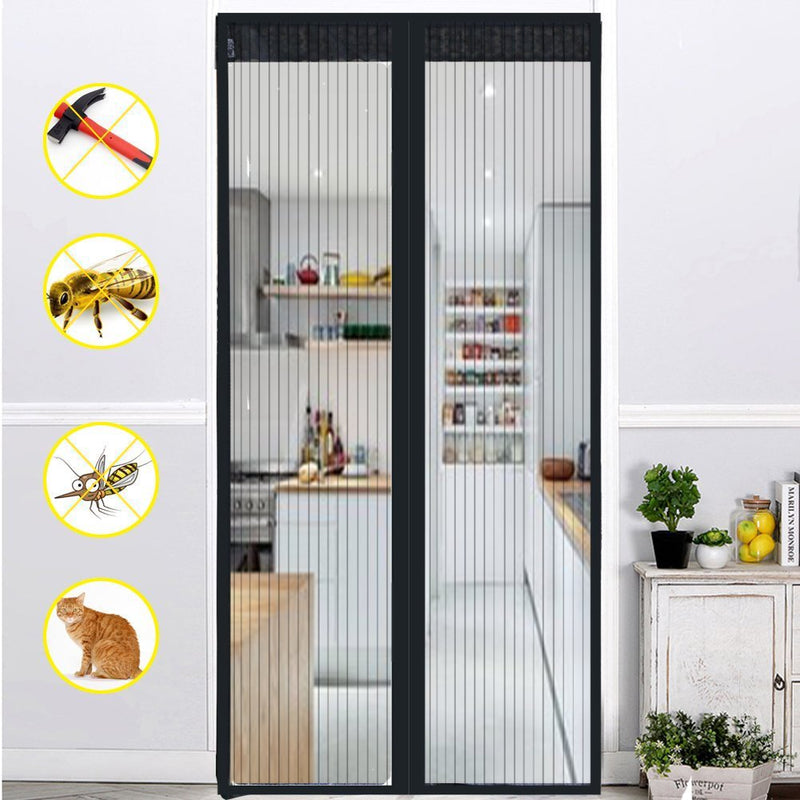 Magnetic Screen Door Full Frame Velcro Keep Insects Out - www.wowseastore.com