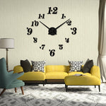 Large Wall Clock Frameless Mirror Surface Mute Wall Stickers Home Decoration - www.wowseastore.com