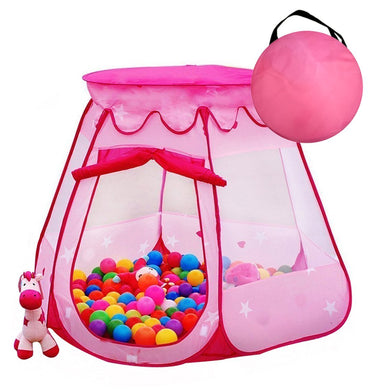 Children Play Tent Ball Pit Casetta esagonale pieghevole Castle - it.wowseastore.com