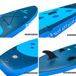 WOWSEA Inflatable 10.6 inch Stand Up Paddle Board AN16 iSUP Packages - www.wowseastore.com