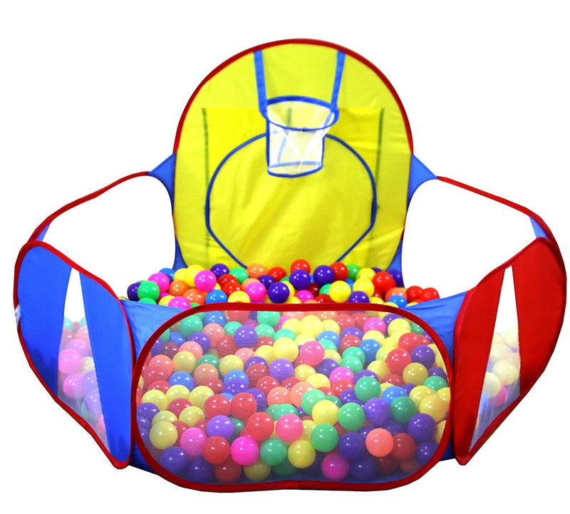 Kids Ball Pit Ball Tent Toddler Ball Pit con canestro da basket (palle non incluse) - it.wowseastore.com