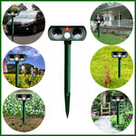 Animal repellent solar powered ultrasonic deterrent against dogs, cats and rats, birds - www.wowseastore.com