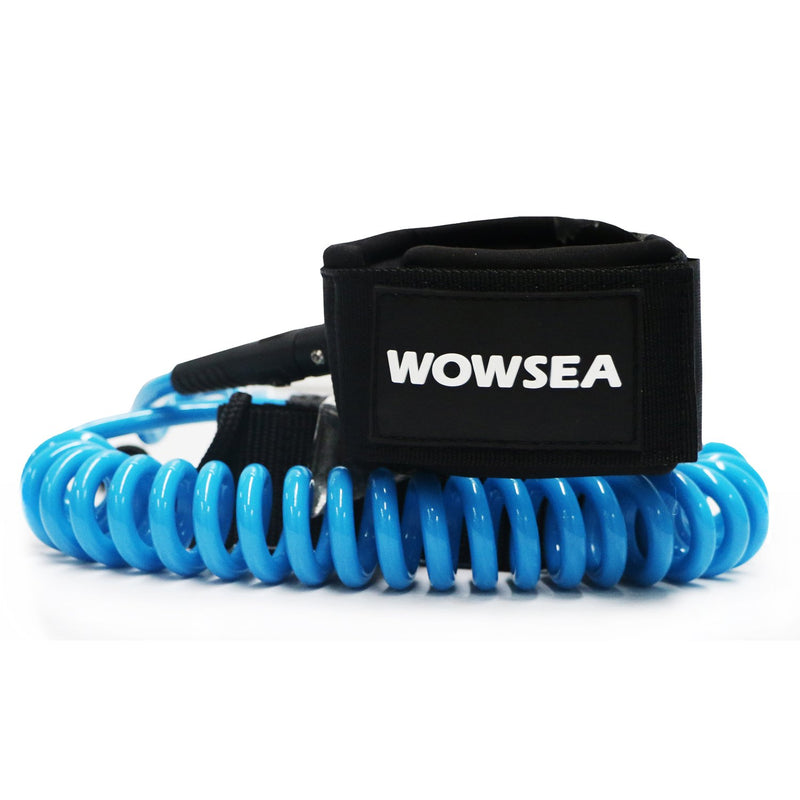 Coil Ankle Leash With Key Pocket