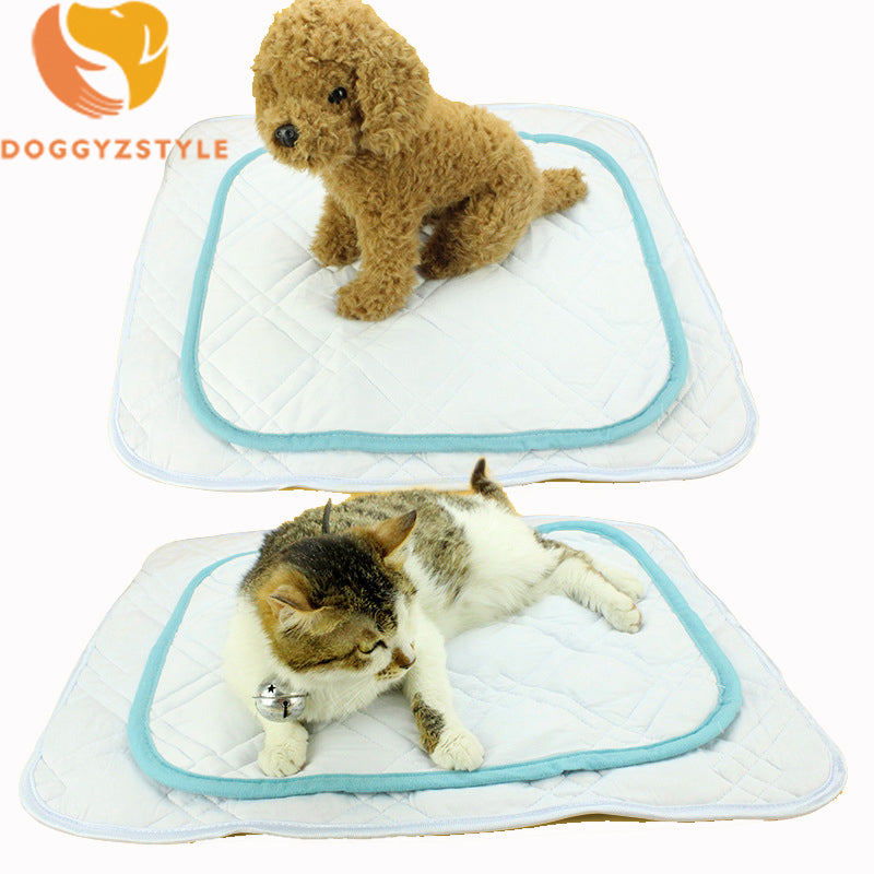 Soft Summer Cooling Dog Cat Mat Ice Cotton Pet Puppy Mats Cushion Sleeping Mat Bed for chihuahua Teddy S/M/L DOGGYZSTYLE - www.wowseastore.com