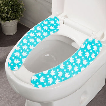 Paste type Bathroom Padded toilet seat cushion with Closestool Washable Soft Warmer Rabbit Elephant Animal - www.wowseastore.com
