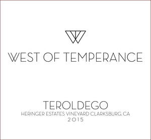 west-of-temperance-winery - 2015 Teroldego - West of Temperance Winery  - Wine