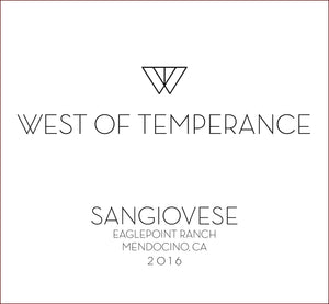 west-of-temperance-winery - 2016 Sangiovese - West of Temperance Winery - Wine