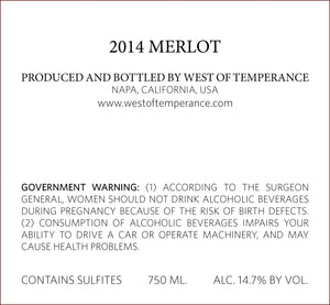 west-of-temperance-winery - 2014 Merlot - West of Temperance Winery - Wine