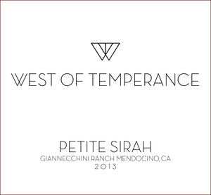 west-of-temperance-winery - 2013 Petite Sirah - West of Temperance Winery - Wine