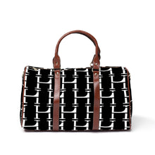 Load image into Gallery viewer, LHCo. Black Bamboo Weekender Bag