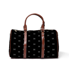 Load image into Gallery viewer, LHCo. Black Tile Weekender Bag