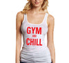 gym and chill white tank top ladies.jpg