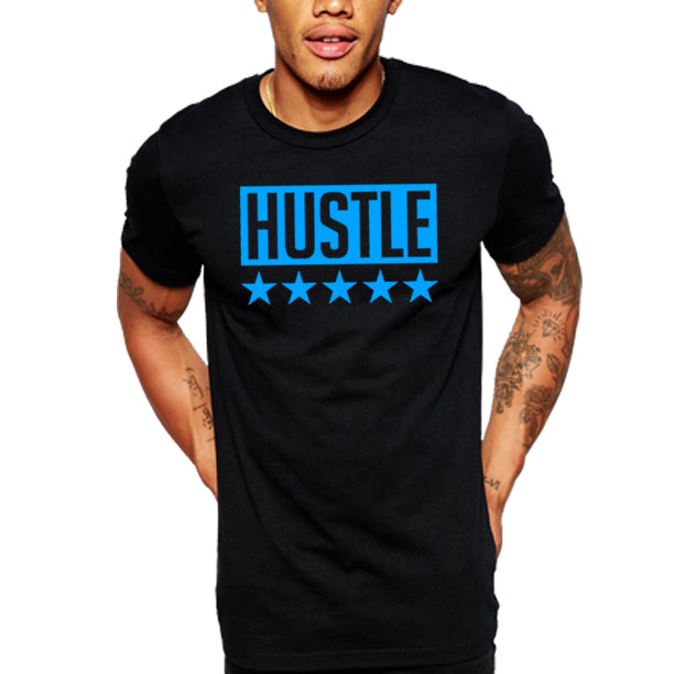 HUSTLE MENS TEE BLACK AND BLUE.jpg