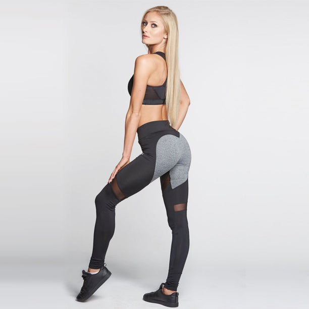 ON1E Heart Leggings (Gray/Black)