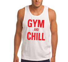 gym and chill white tank top mens.jpg