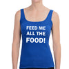feed me womens blue tank.jpg