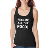 feed me womens black tank.jpg