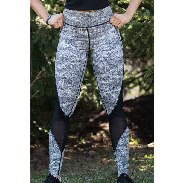 ON1E Gray Calf Mesh Leggings