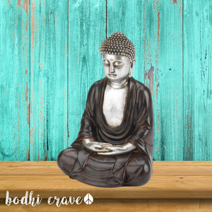 Peaceful Sitting Buddha Statue - Bodhi Crave