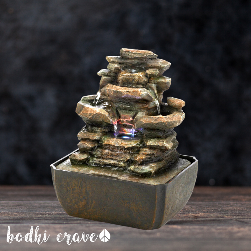 Tiered Rock Formation Fountain - Bodhi Crave